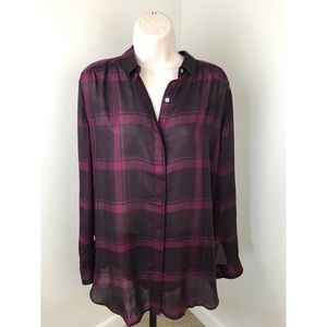 LOFT The Softened Plaid Button Down Shirt